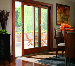Andersen Windows & Doors 400 Series Frenchwood Gliding Patio Door, Casement Window